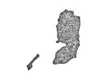 Χάρτης της Παλαιστίνης στους σπόρους παπαρουνών Στοκ Εικόνα