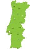 Χάρτης της Πορτογαλίας διανυσματική απεικόνιση