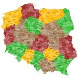 Χάρτης της Πολωνίας Στοκ φωτογραφίες με δικαίωμα ελεύθερης χρήσης