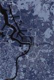Χάρτης της πόλης της Αμβέρσας, Βέλγιο στοκ εικόνες