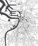 Χάρτης της πόλης της Αμβέρσας, Βέλγιο απεικόνιση αποθεμάτων