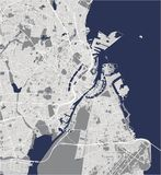 Χάρτης της πόλης της Κοπεγχάγης, Δανία διανυσματική απεικόνιση