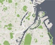 Χάρτης της πόλης της Κοπεγχάγης, Δανία ελεύθερη απεικόνιση δικαιώματος