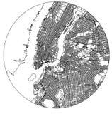 Χάρτης της πόλης της Νέας Υόρκης, Νέα Υόρκη, ΗΠΑ διανυσματική απεικόνιση