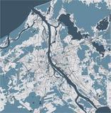 Χάρτης της πόλης της Ρήγας, Λετονία απεικόνιση αποθεμάτων