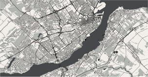 Χάρτης της πόλης του Κεμπέκ, Καναδάς απεικόνιση αποθεμάτων