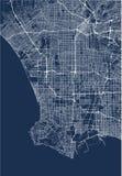 Χάρτης της πόλης του Λος Άντζελες, ΗΠΑ διανυσματική απεικόνιση