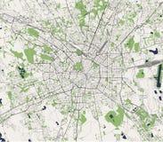 Χάρτης της πόλης του Μιλάνου, πρωτεύουσα της Λομβαρδίας, Ιταλία διανυσματική απεικόνιση