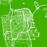 Χάρτης της πόλης του Σαν Ντιέγκο στο ύφος του επίπεδου σχεδίου στοκ εικόνες με δικαίωμα ελεύθερης χρήσης
