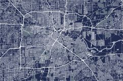 Χάρτης της πόλης του Χιούστον, U S κράτος Τέξας ΗΠΑ ελεύθερη απεικόνιση δικαιώματος
