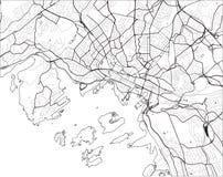Χάρτης της πόλης του Όσλο, Νορβηγία ελεύθερη απεικόνιση δικαιώματος
