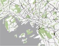 Χάρτης της πόλης του Όσλο, Νορβηγία διανυσματική απεικόνιση