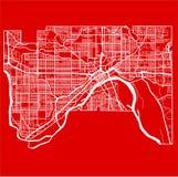 Χάρτης της πόλης του ST Paul στο ύφος του επίπεδου σχεδίου στοκ εικόνα