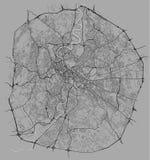 Χάρτης της πόλης της Ρώμης, Ιταλία ελεύθερη απεικόνιση δικαιώματος