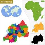 Χάρτης της Ρουάντα Στοκ εικόνα με δικαίωμα ελεύθερης χρήσης