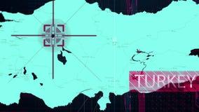 Χάρτης της ρωσικής επίθεσης στην Τουρκία ελεύθερη απεικόνιση δικαιώματος