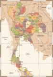 Χάρτης της Ταϊλάνδης - εκλεκτής ποιότητας υψηλή λεπτομερής διανυσματική απεικόνιση Στοκ φωτογραφία με δικαίωμα ελεύθερης χρήσης