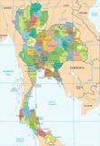 Χάρτης της Ταϊλάνδης - λεπτομερής διανυσματική απεικόνιση Στοκ φωτογραφία με δικαίωμα ελεύθερης χρήσης