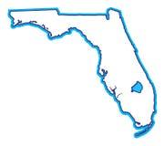 χάρτης της Φλώριδας διανυσματική απεικόνιση