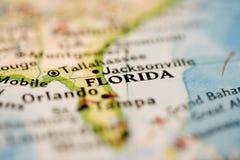 χάρτης της Φλώριδας Στοκ εικόνες με δικαίωμα ελεύθερης χρήσης