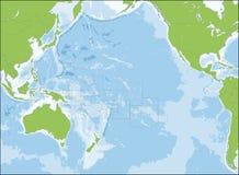 Χάρτης της Ωκεανίας Στοκ Εικόνα