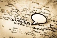 χάρτης της Angeles Καλιφόρνια Los Στοκ εικόνες με δικαίωμα ελεύθερης χρήσης