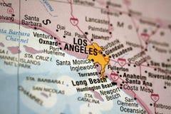 χάρτης της Angeles Los Στοκ φωτογραφία με δικαίωμα ελεύθερης χρήσης