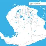 Χάρτης της Isla de Λα Juventud Island διανυσματική απεικόνιση