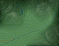 χάρτης τοπογραφικός Στοκ Εικόνες