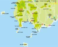 Χάρτης τουριστών του AO Nang στοκ εικόνες με δικαίωμα ελεύθερης χρήσης