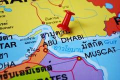 Χάρτης του Αμπού Νταμπί Στοκ εικόνα με δικαίωμα ελεύθερης χρήσης