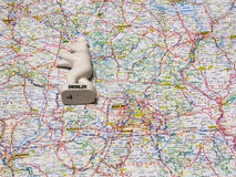 Χάρτης του αναμνηστικού της Γερμανίας του Βερολίνου Στοκ Φωτογραφία