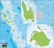 Χάρτης του Βανουάτου Στοκ φωτογραφία με δικαίωμα ελεύθερης χρήσης