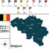 χάρτης του Βελγίου Στοκ εικόνα με δικαίωμα ελεύθερης χρήσης