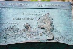 Χάρτης του γιγαντιαίου υπερυψωμένου μονοπατιού ` s στη κομητεία Antrim στη Βόρεια Ιρλανδία Στοκ εικόνες με δικαίωμα ελεύθερης χρήσης