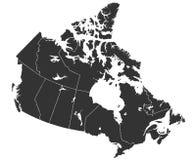 Χάρτης του Καναδά στη υψηλή ανάλυση στοκ φωτογραφία