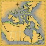 χάρτης του Καναδά Στοκ φωτογραφία με δικαίωμα ελεύθερης χρήσης