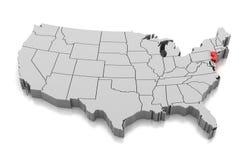 Χάρτης του κράτους του Νιου Τζέρσεϋ, ΗΠΑ ελεύθερη απεικόνιση δικαιώματος