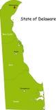 Χάρτης του κράτους του Delaware απεικόνιση αποθεμάτων
