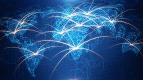 Χάρτης του κόσμου με το ζωντανεψοντα υπόβαθρο απεικόνιση αποθεμάτων