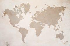 Χάρτης του κόσμου στοκ εικόνες