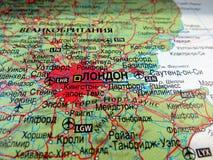 χάρτης του Λονδίνου Στοκ Φωτογραφίες