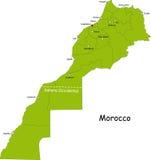 Χάρτης του Μαρόκου ελεύθερη απεικόνιση δικαιώματος
