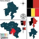 Χάρτης του Ναμούρ, Βέλγιο Στοκ Φωτογραφίες