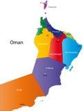 Χάρτης του Ομάν διανυσματική απεικόνιση