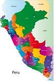 Χάρτης του Περού διανυσματική απεικόνιση
