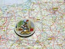 Χάρτης του πιάτου αναμνηστικών της Γερμανίας της Βρέμης Στοκ Φωτογραφίες