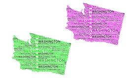 Χάρτης του πολιτεία της Washington - διανυσματική απεικόνιση Διανυσματική απεικόνιση