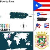 Χάρτης του Πουέρτο Ρίκο ελεύθερη απεικόνιση δικαιώματος