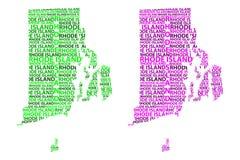 Χάρτης του Ρόουντ Άιλαντ - διανυσματική απεικόνιση Διανυσματική απεικόνιση
